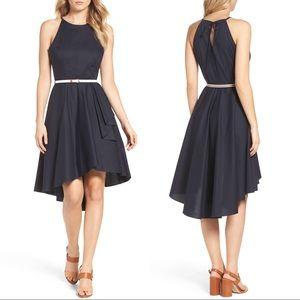 Eliza J High/low Dress In Navy